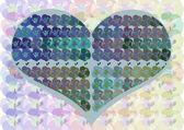Cartão de coração — Fotografia Stock