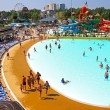 "Swimming pool at a water park ""Golden Beach"". Anapa — Stock Photo"