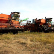 Color photo of old combine harvesters. — Stock Photo #9243182