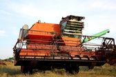 OLd combine harvester — Stock Photo