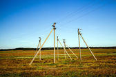 Electric columns — Stock Photo