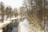 Winter river — Stock fotografie