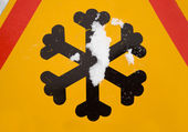 Traffic sign (snowflake) — Stock Photo
