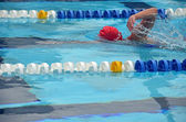 Freestyle Swim Workout — Stock Photo