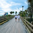 Miami Beach  Boardwalk - Stock Photo