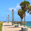Southpointe Park Seawall Promenade — Stock Photo