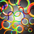 Rainbow Circles background vector illustration - Stock Vector