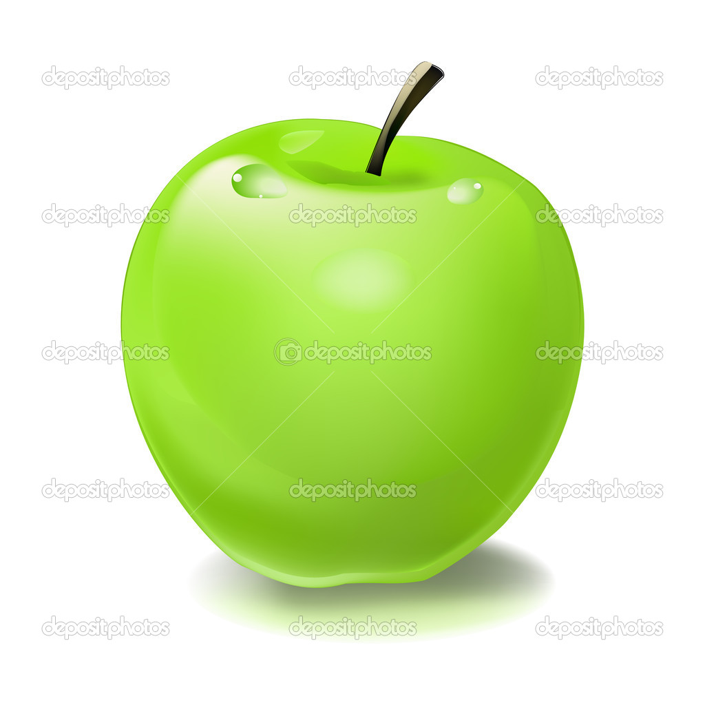 delicious green apple illustration - photo #13