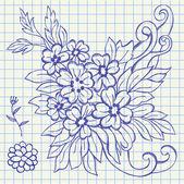 Floral drawing illustration — Stockvektor