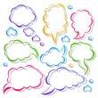 Royalty-Free Stock Vector Image: Speech bubbles line