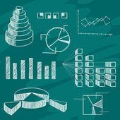 Infographics elements sketch — Stock Vector