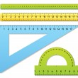 Rulers and protractor — Stock Vector #8025373