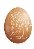 Egg and angel — Stock Photo