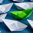 Paper boats — Stock Photo #9856650