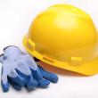 Stock Photo: Yellow hard hat