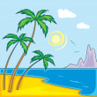 Paradise Beach. — Stock Vector