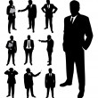 Businessman silhouette. — Stock Vector