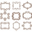 Vintage frame. Set. — Stock Vector