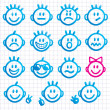 Set of faces with various emotion expressions. — Stock Vector #8346507