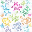 Royalty-Free Stock Vector Image: Children\'s drawings. Seamless background.