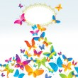 Colorful background with butterfly. — Stock Vector