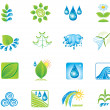 Environment. Set of design elements and icons. — Stock Vector