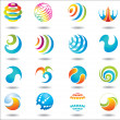 Set of design elements and buttons. — Stock Vector #8346770