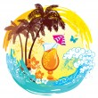 Royalty-Free Stock Vector Image: Tropical background.