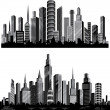 The best vector City silhouettes. Set. — Imagen vectorial