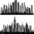 The best vector City silhouettes. Set. — 图库矢量图片