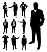 Businessman silhouette. — Stock Vector