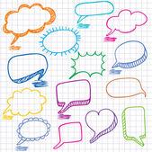 Vektorové bubliny pro řeč. bezešvé doodle pozadí. — Stock vektor