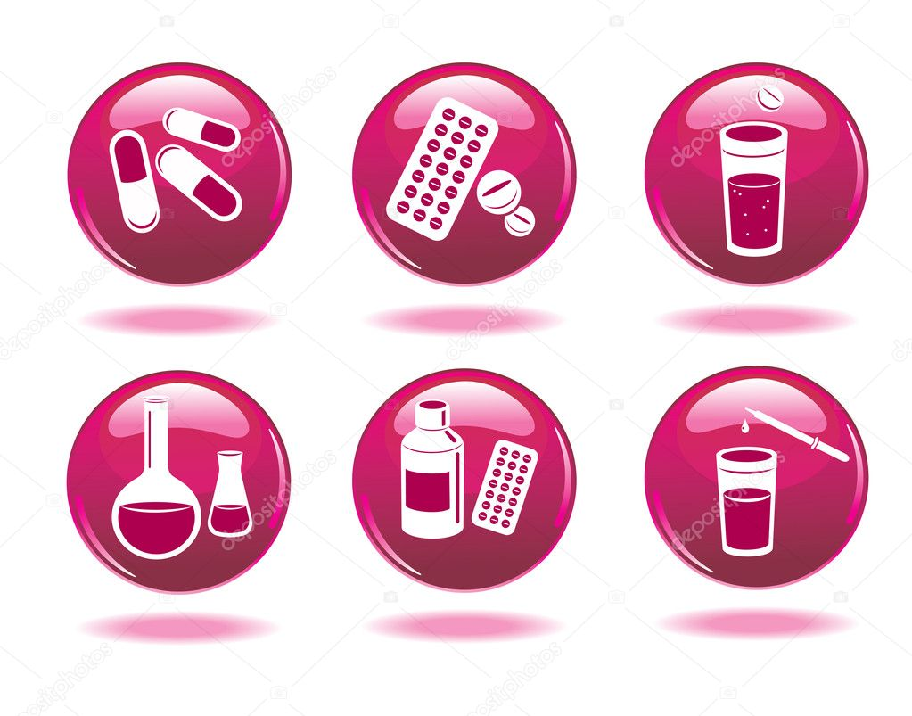 Set of medical icons.  — Stock Vector #8346162