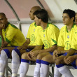 Brazil football reserves bench — Stock Photo