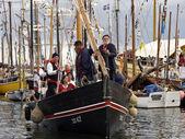 Old sail crew — Stock Photo