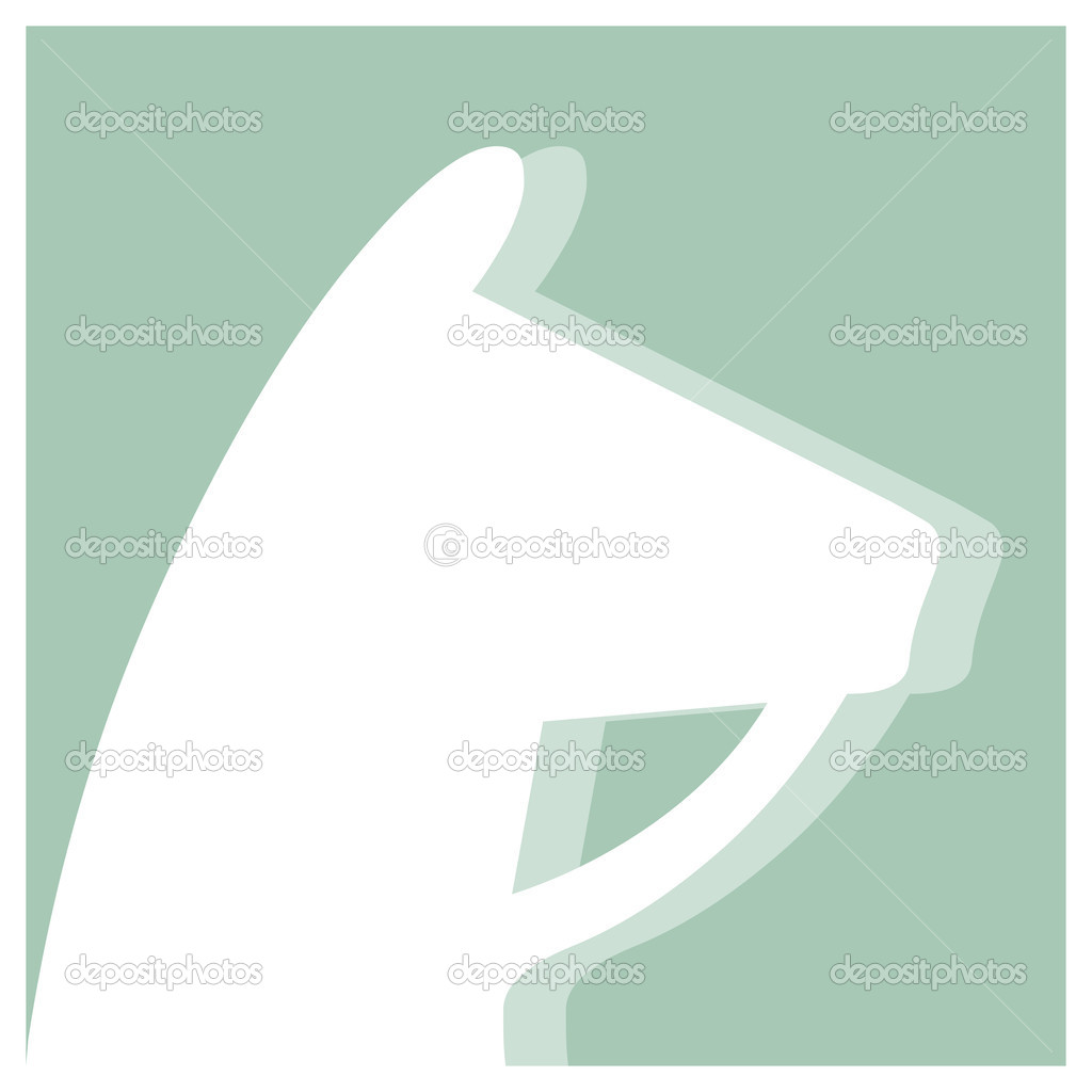 Equestrian sports vector pictogram  Stock Vector #9489301