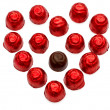 Heart shape made with chocolate sweets — Stock Photo #8970337