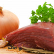 Royalty-Free Stock Photo: Beef onion and spices