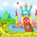 城堡 — 图库矢量图片