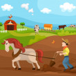 Farm.. — Vector de stock #10497559