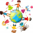 Royalty-Free Stock Vector Image: Children ih the world