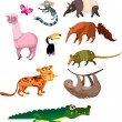 Animal set - Stock Vector