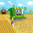 Vector de stock : Farm..