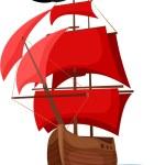 Pirate Ship — Stock Vector