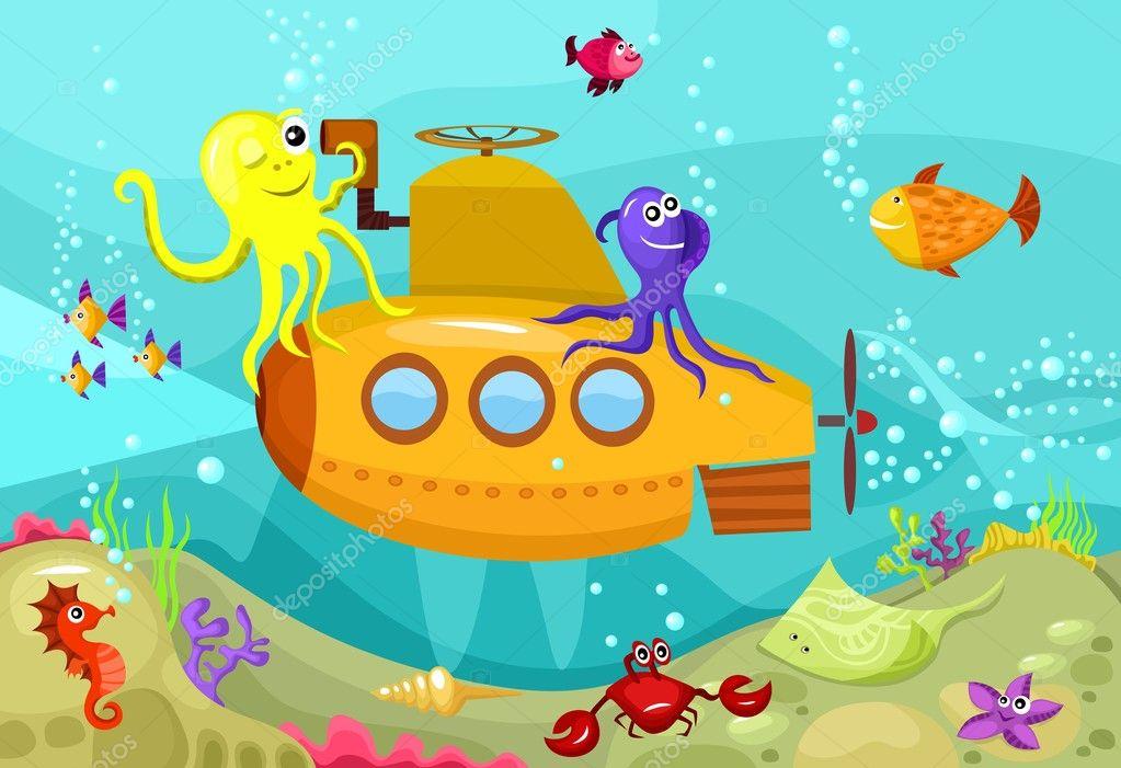 песенки для детей подводная лодка