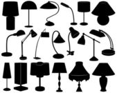 Lamp set — Stock Vector