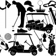 Golf set — Stock Vector #8316138