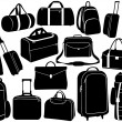 Different bags set — Stock Vector