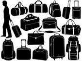 Verschiedene taschen-set — Stockvektor