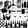 Royalty-Free Stock Vector Image: Wine set
